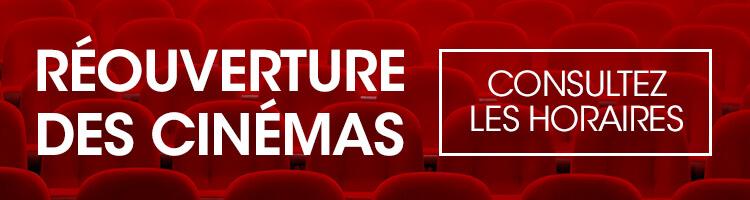 Réouverture des cinémas: consultez les horaires